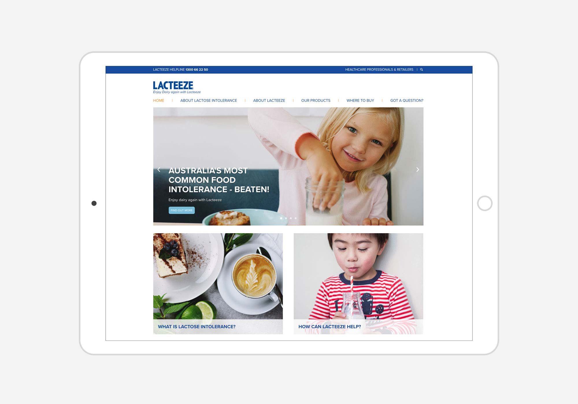 Lacteeze home page