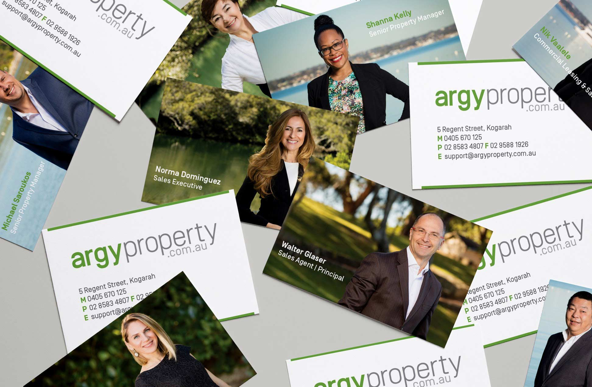 Argy Property business cards