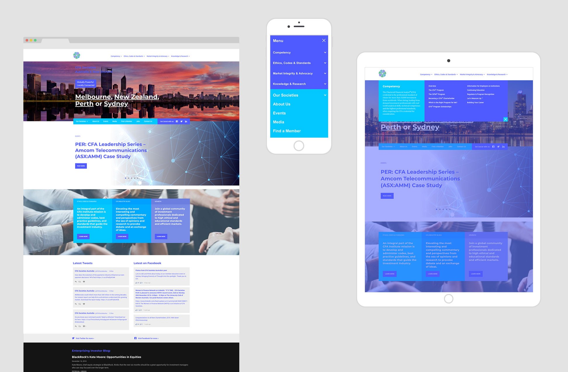 CFA Societies responsive screens
