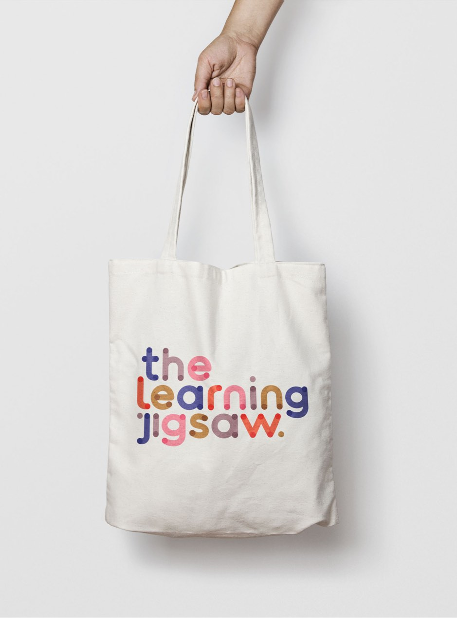 The Learning Jigsaw tote bag